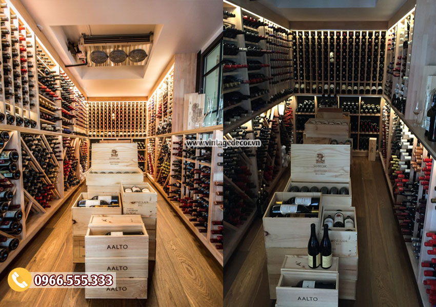 Mẫu thiết kế hầm rượu vang trong nhà HR54
