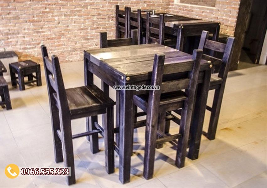 Bộ bàn ghế quán BAR phong cách cổ điển BG02