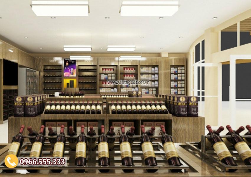 Mẫu thiết kế cửa hàng rượu vang hiện đại CHR18