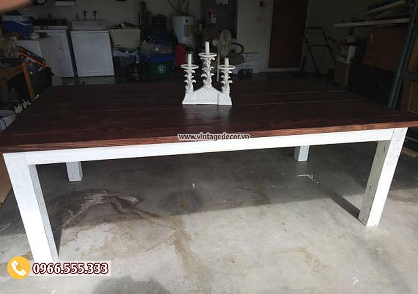 Bộ bàn ghế phòng ăn gỗ thông BG20