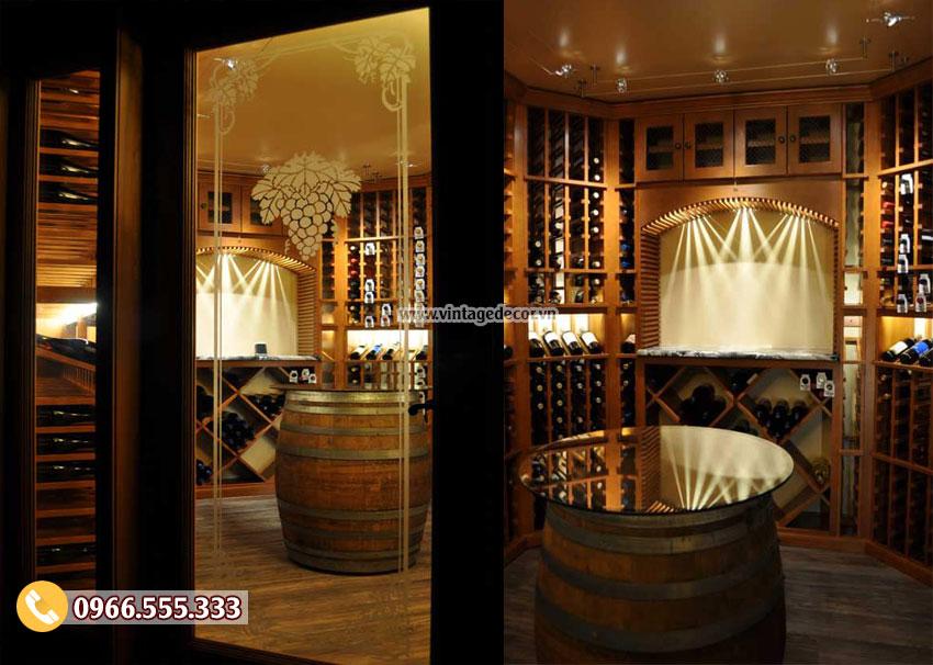 Mẫu thiết kế hầm rượu gia đình HR10