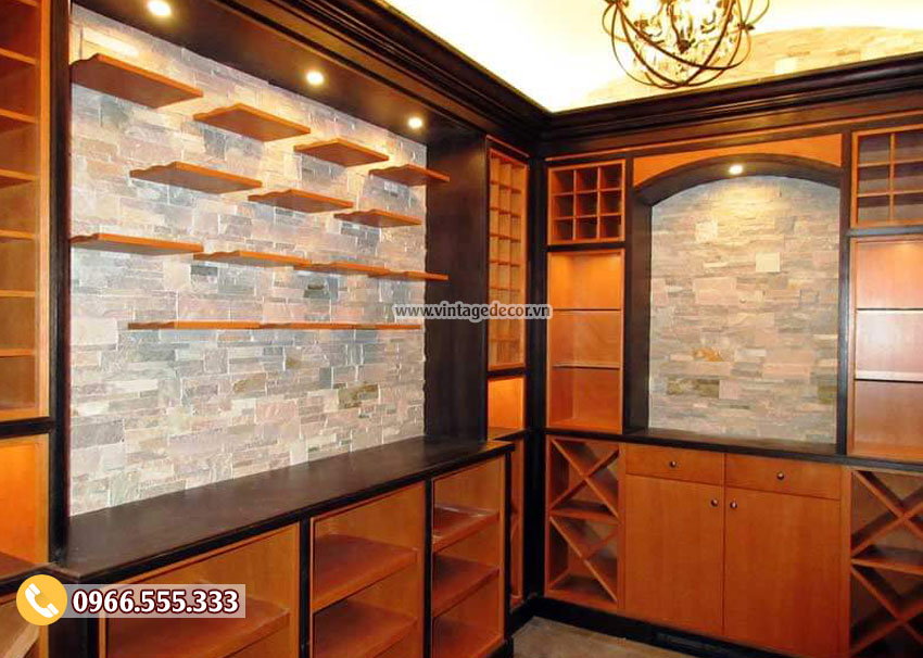 Mẫu thiết kế hầm rượu mini tại nhà HR11