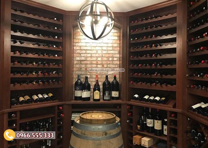 Mẫu hầm rượu vang gia đình phong cách cổ điển HR12