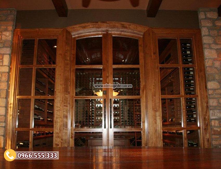 Mẫu thiết kế hầm rượu vang gia đình HR15