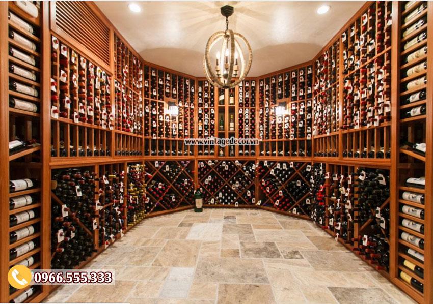 Mẫu thiết kế hầm rượu vang đẹp HR24