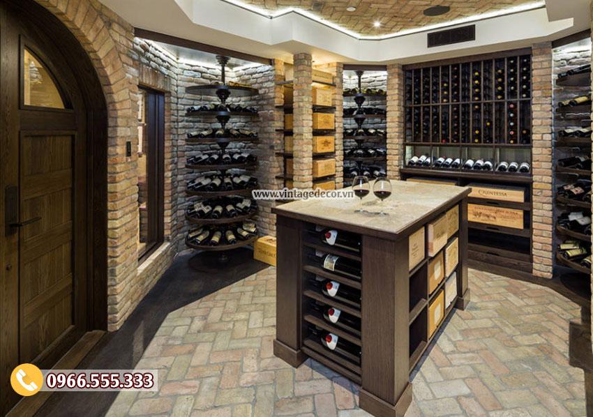 Mẫu thiết kế hầm rượu vang đẹp HR25