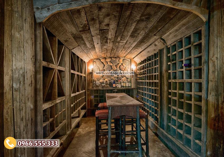 Mẫu thiết kế hầm rượu HR17