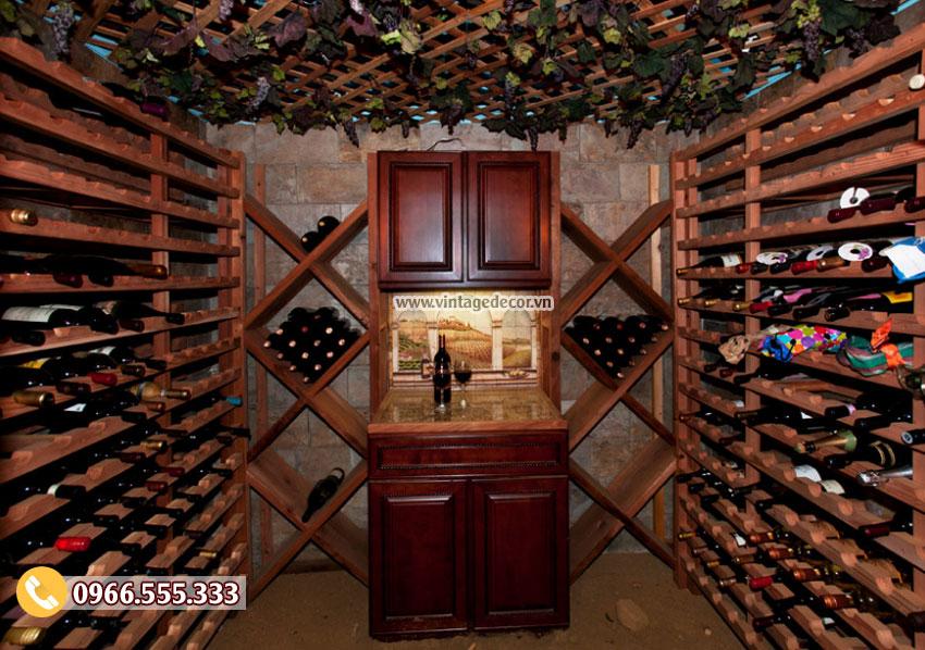Mẫu thiết kế hầm rượu vang HR33