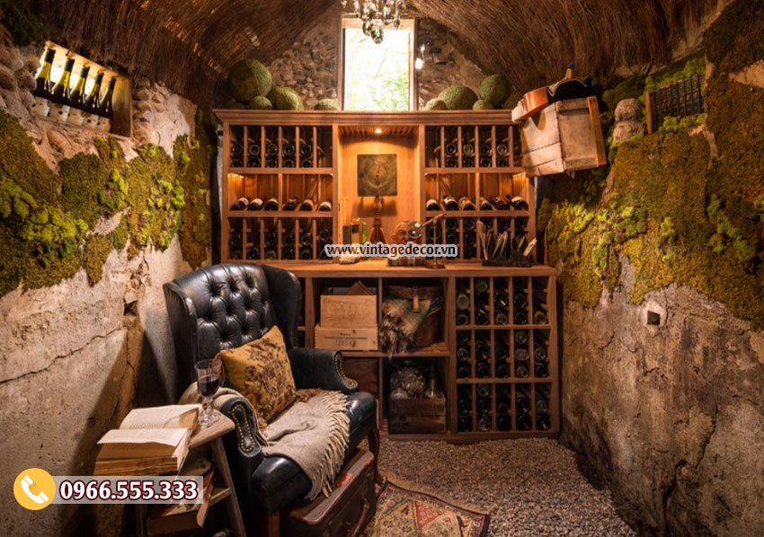 Mẫu thiết kế hầm rượu vang phong cách châu âu HR33
