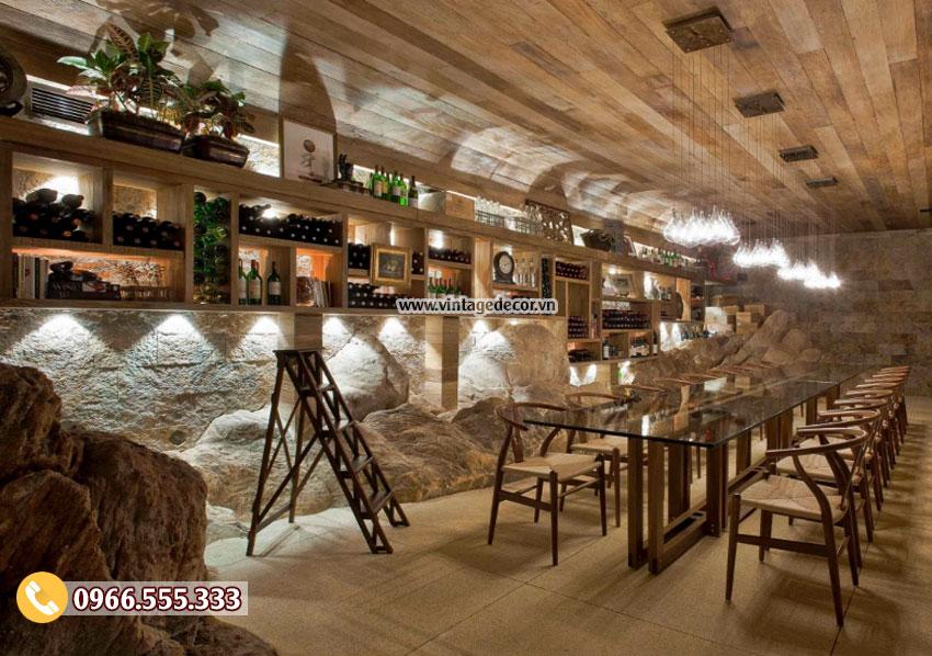 Mẫu thiết kế nhà hàng rượu vang BR16