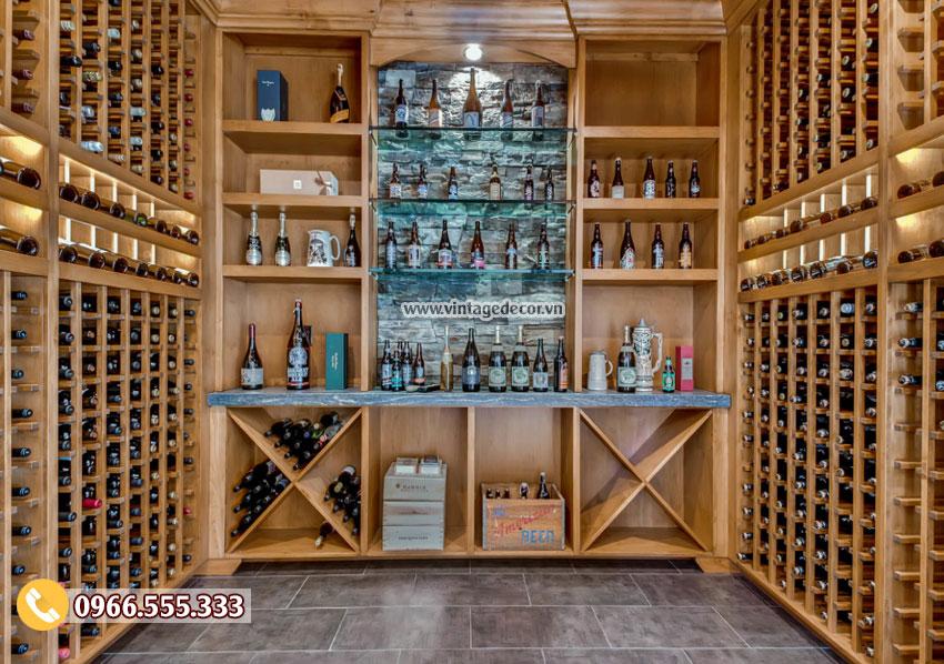 Mẫu thiết kế hầm rượu vang đẹp HR22