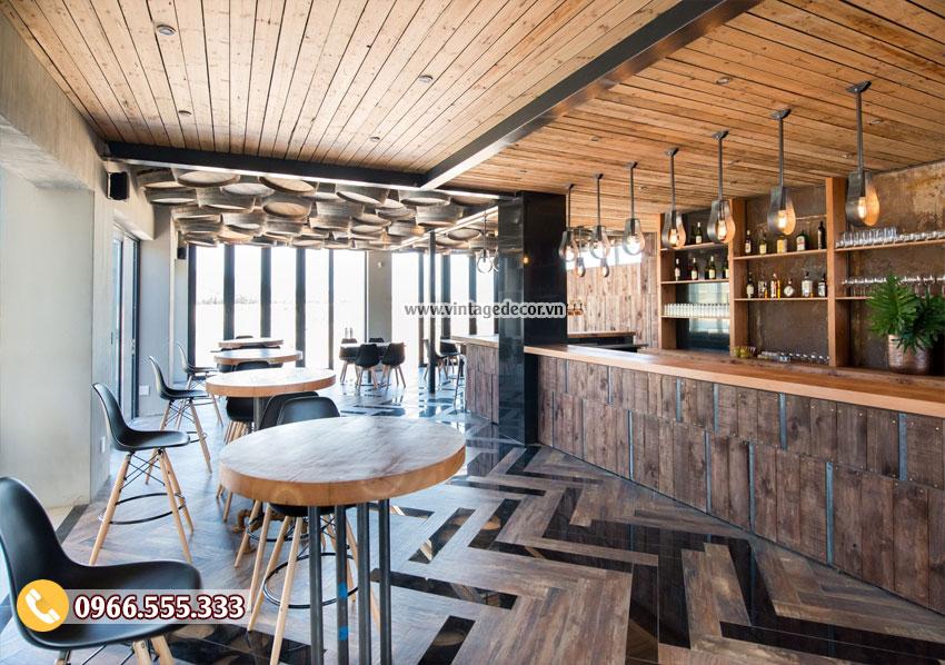 Mẫu thiết kế quán bar rượu vang đẹp BR01