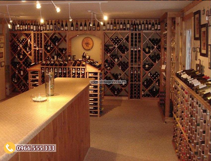 Mẫu thiết kế showroom rượu vang đẹp CHR01