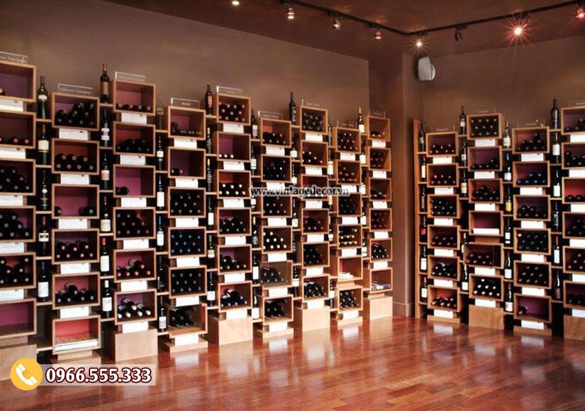 Mẫu cửa hàng rượu vang chuyên nghiệp CHR10