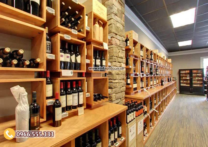 Mẫu thiết kế cửa hàng rượu vang đẹp CHR13