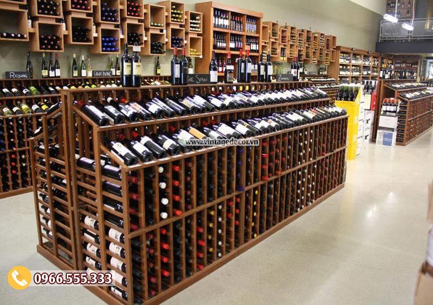 Mẫu thiết kế cửa hàng rượu vang cổ điển CHR14
