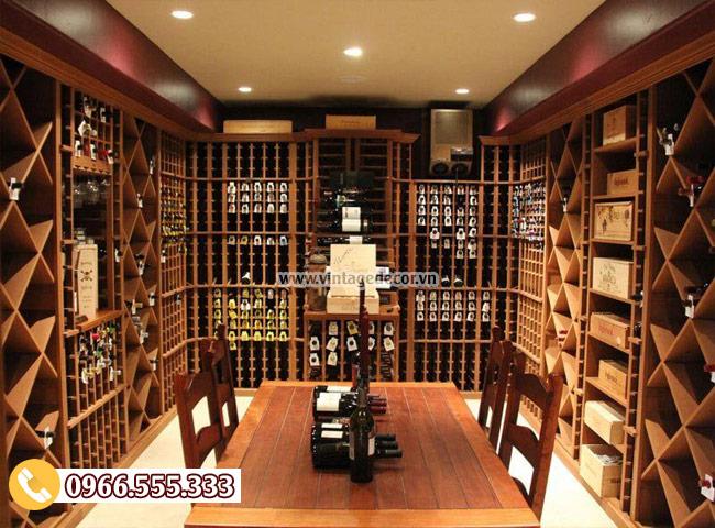 Mẫu thiết kế hầm rượu vang đẹp HR01