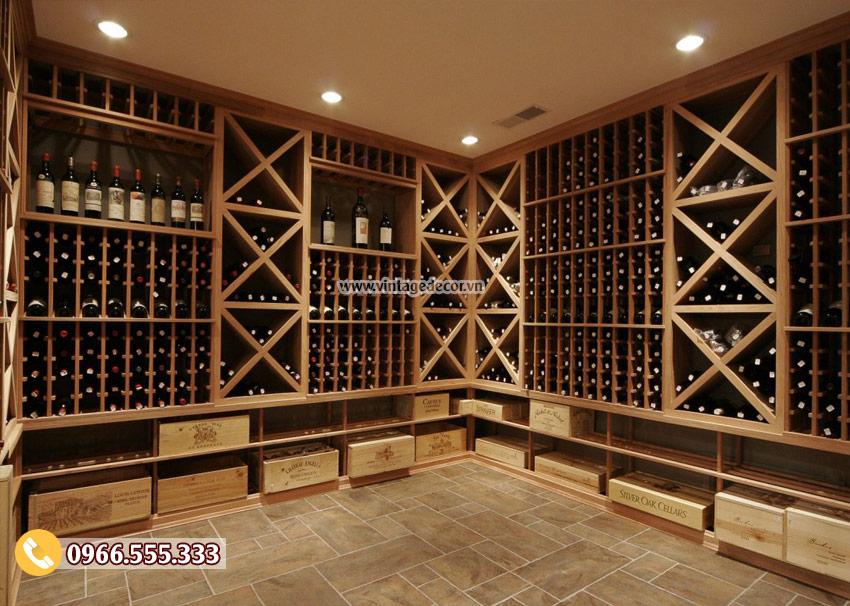Mẫu thiết kế hầm rượu cổ điển HR04