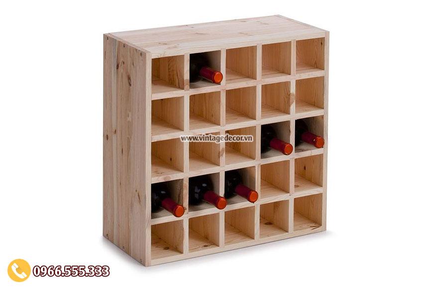 Mẫu kệ lưu trữ rượu vang đẹp TBR12