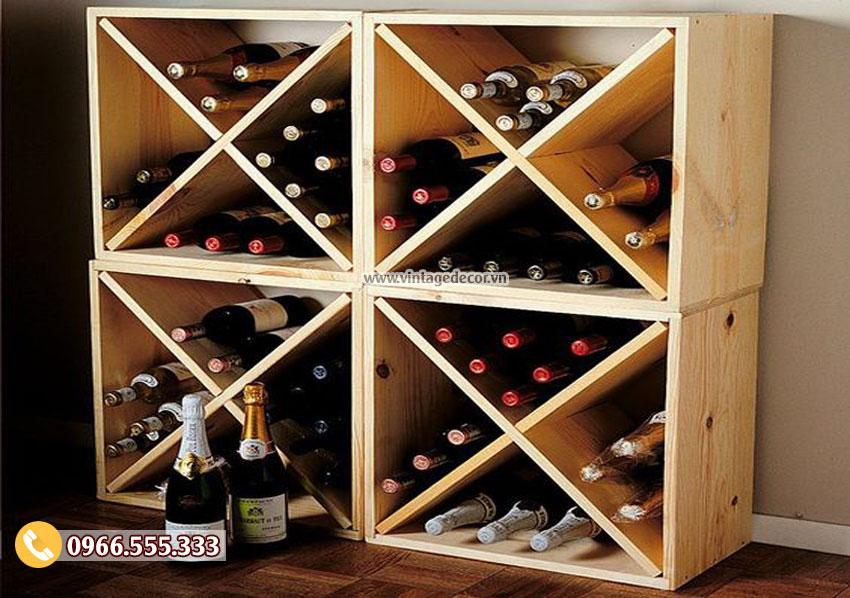 Mẫu kệ rượu trang trí trong nhà TBR19