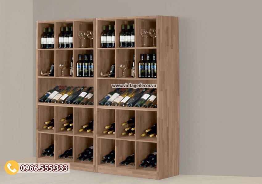 Mẫu tủ rượu gia đình đẹp TBR33