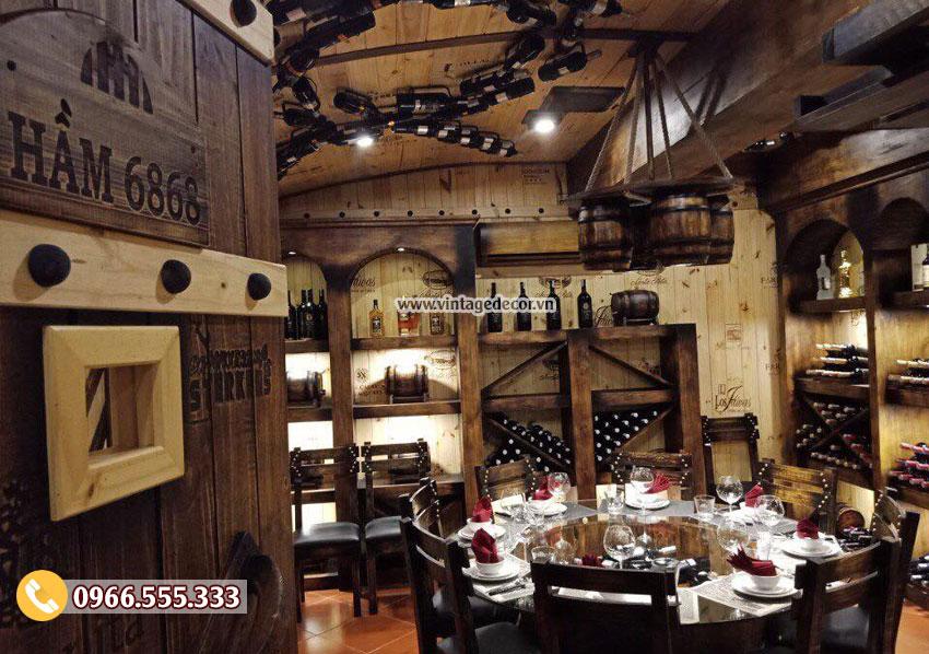 thiết kế hầm rượu, nhà hàng hầm rượu tại Hà Nội