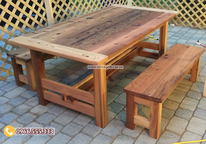 Mẫu bàn ghế phong cách retro cổ điển BG45