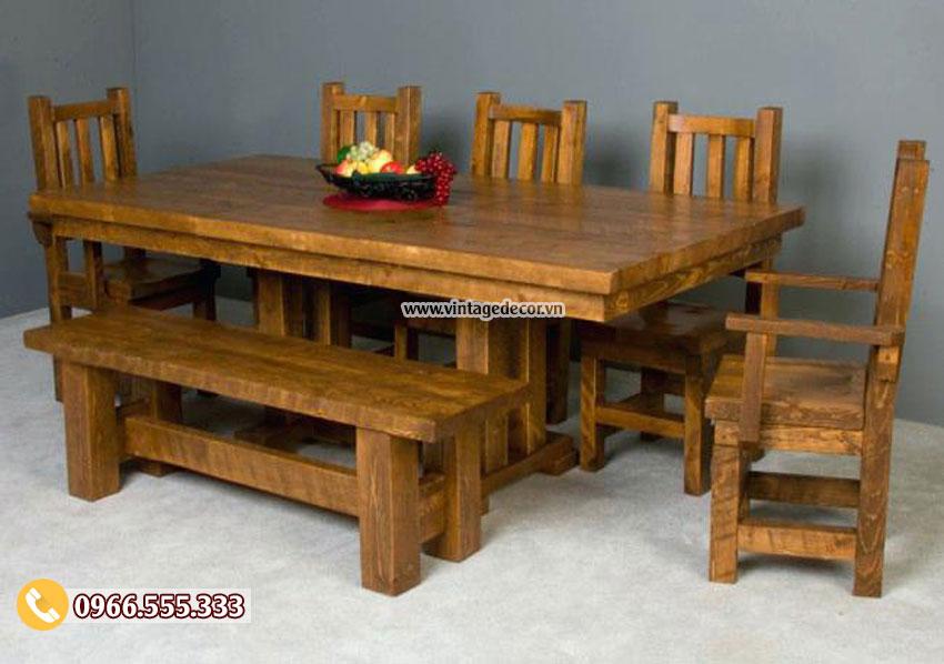 Mẫu bộ bàn ghế phòng ăn gia đình cao cấp BG48