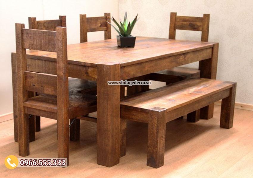Mẫu bàn ghế nội thất phòng ăn gia đình BG58