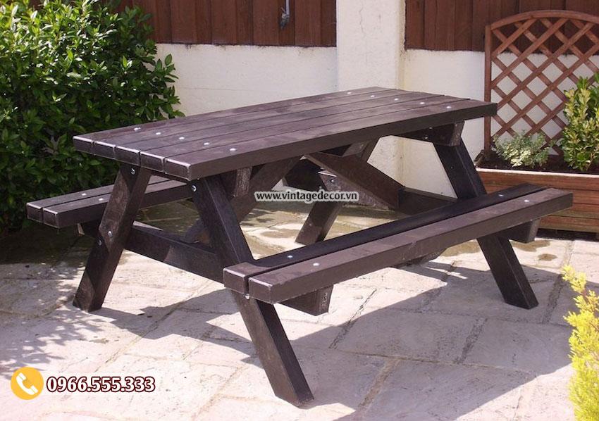 Mẫu bàn liền ghế thông minh BG64