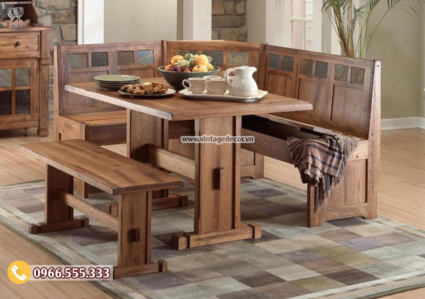Mẫu nội thất phòng ăn gỗ nhập khẩu BG39