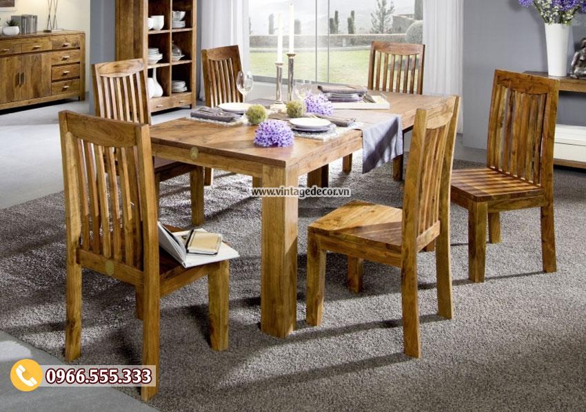 Mẫu bộ bàn ghế phòng ăn cổ điển BG31