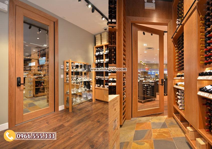 Mẫu thiết kế cửa hàng rượu vang chuyên nghiệp CHR26