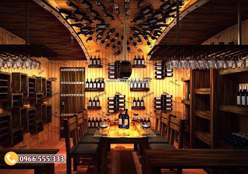 Mẫu nhà hàng rượu vang BR60