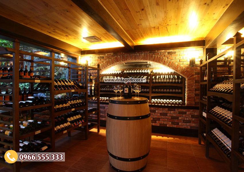 Mẫu thiết kế hầm rượu gia đình HR58