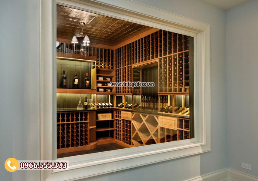 Mẫu thiết kế hầm lưu trữ rượu vang đẹp HR60
