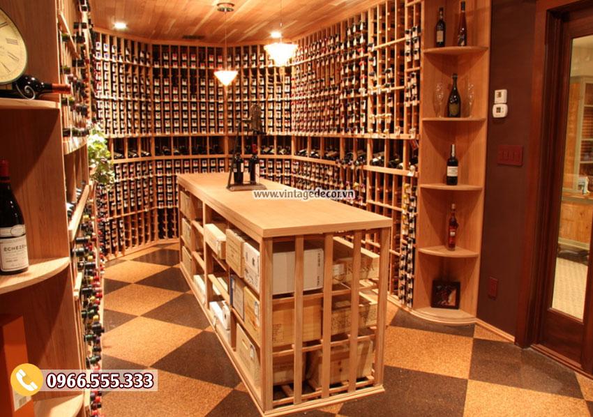 Mẫu thiết kế phòng rượu trong nhà đẹp HR63
