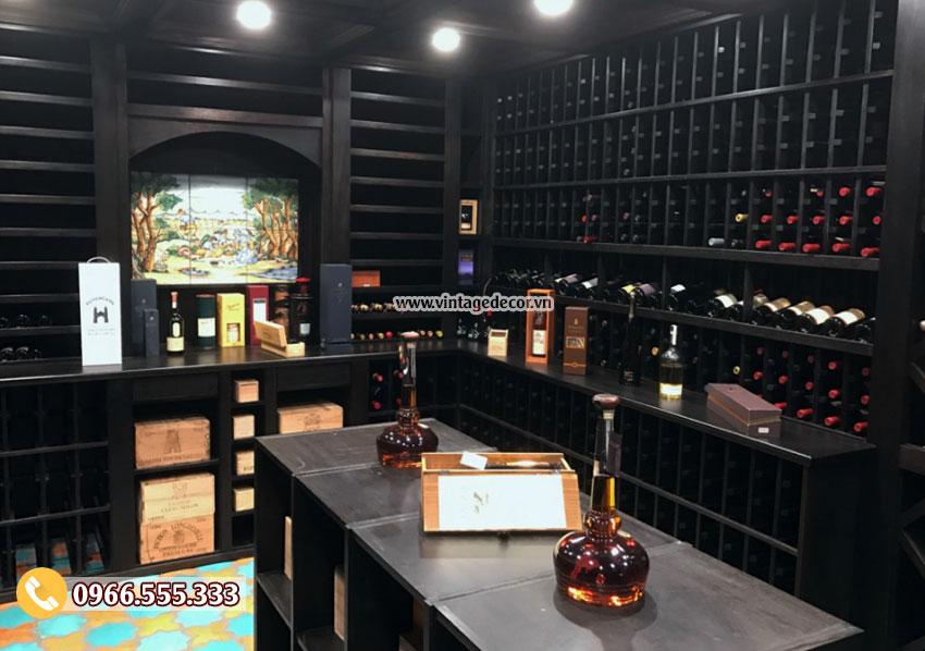 Mẫu thiết kế hầm rượu vang đẹp HR66
