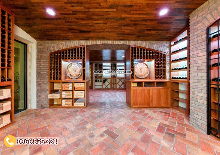 Mẫu thiết kế hầm rượu quy mô lớn HR69