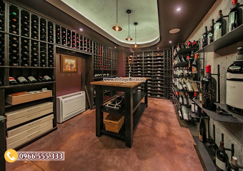 Mẫu thiết kế hầm lưu trữ rượu vang trong nhà HR83