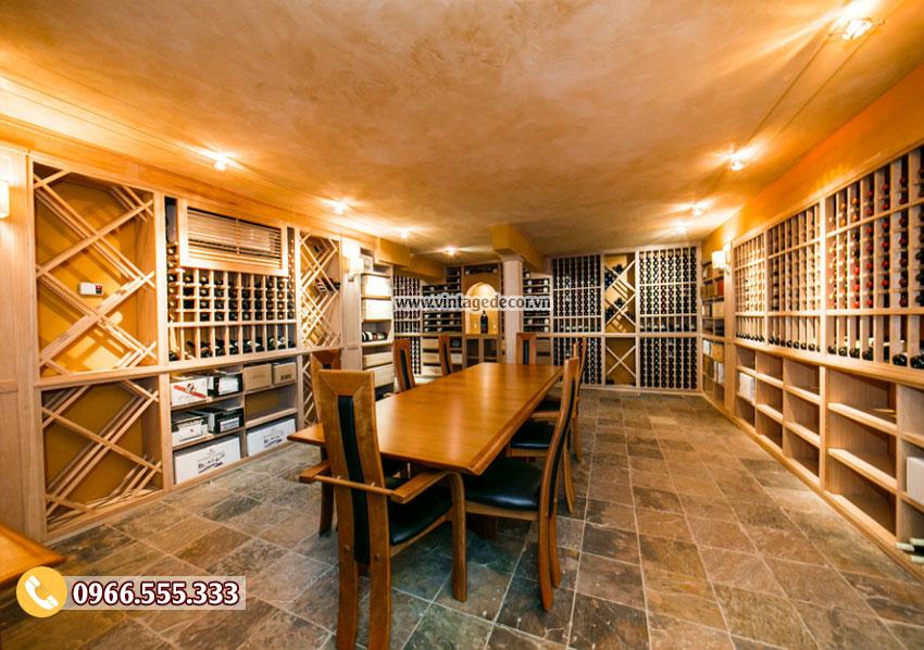 Mẫu thiết kế nhà hàng rượu vang đẳng cấp BR36