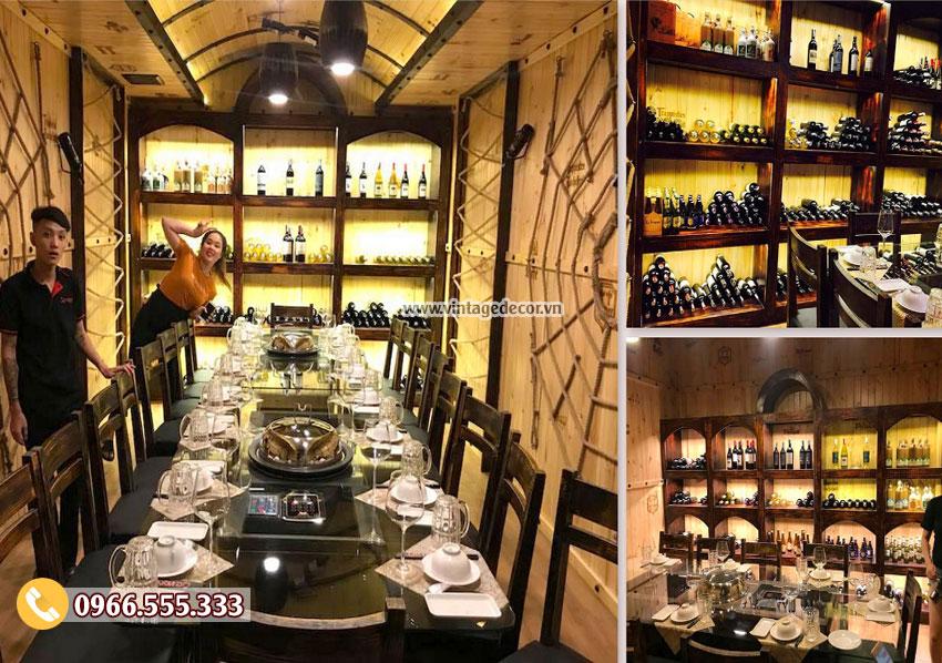 Mẫu thiết kế nhà hàng hầm rượu vang BR46