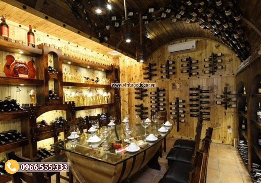 Mẫu thiết kế nhà hàng rượu vang BR21