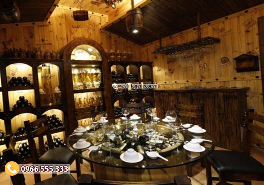 Mẫu thiết kế nội thất nhà hàng rượu vang BR22