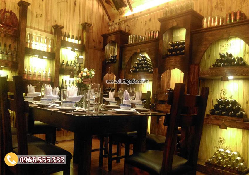 Mẫu thiết kế phòng Vip nhà hàng rượu vang BR24
