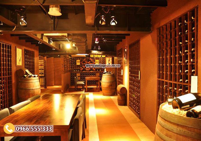 Mẫu thiết kế nhà hàng rượu vang cổ điển đẹp BR34