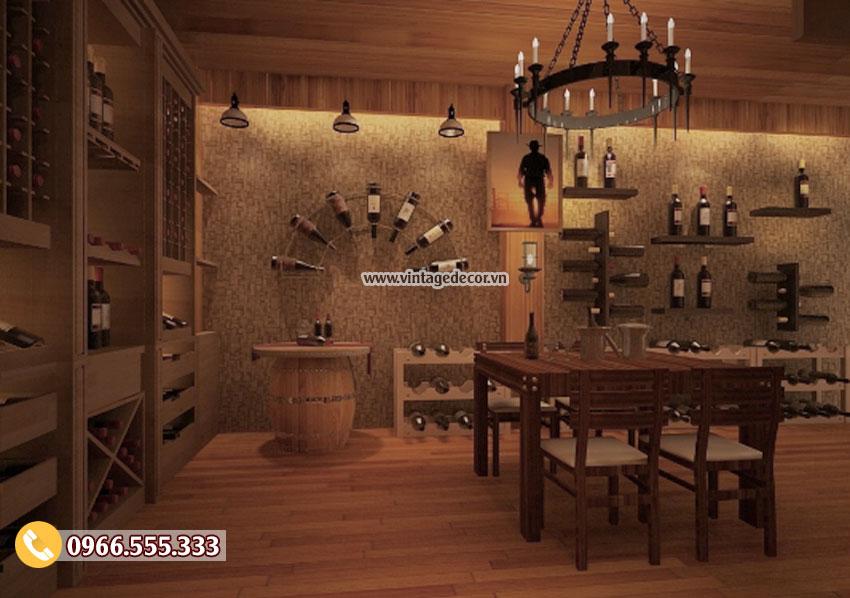 Mẫu thiết kế nhà hàng hầm rượu vang BR58