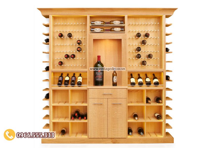 Mẫu tủ trưng bày rượu gia đình đẹp TBR34