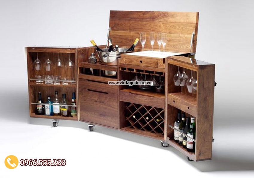 Mẫu thiết kế tủ rượu vang sang trọng TBR59