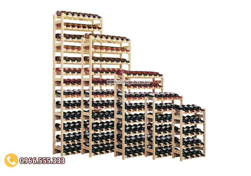 Mẫu kệ rượu vang tùy chỉnh cho hầm rượu TBR43